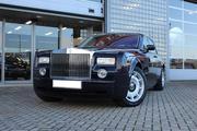 Прокат роскошного Rolls Royce Phantom чёрного и белого цвета для любых